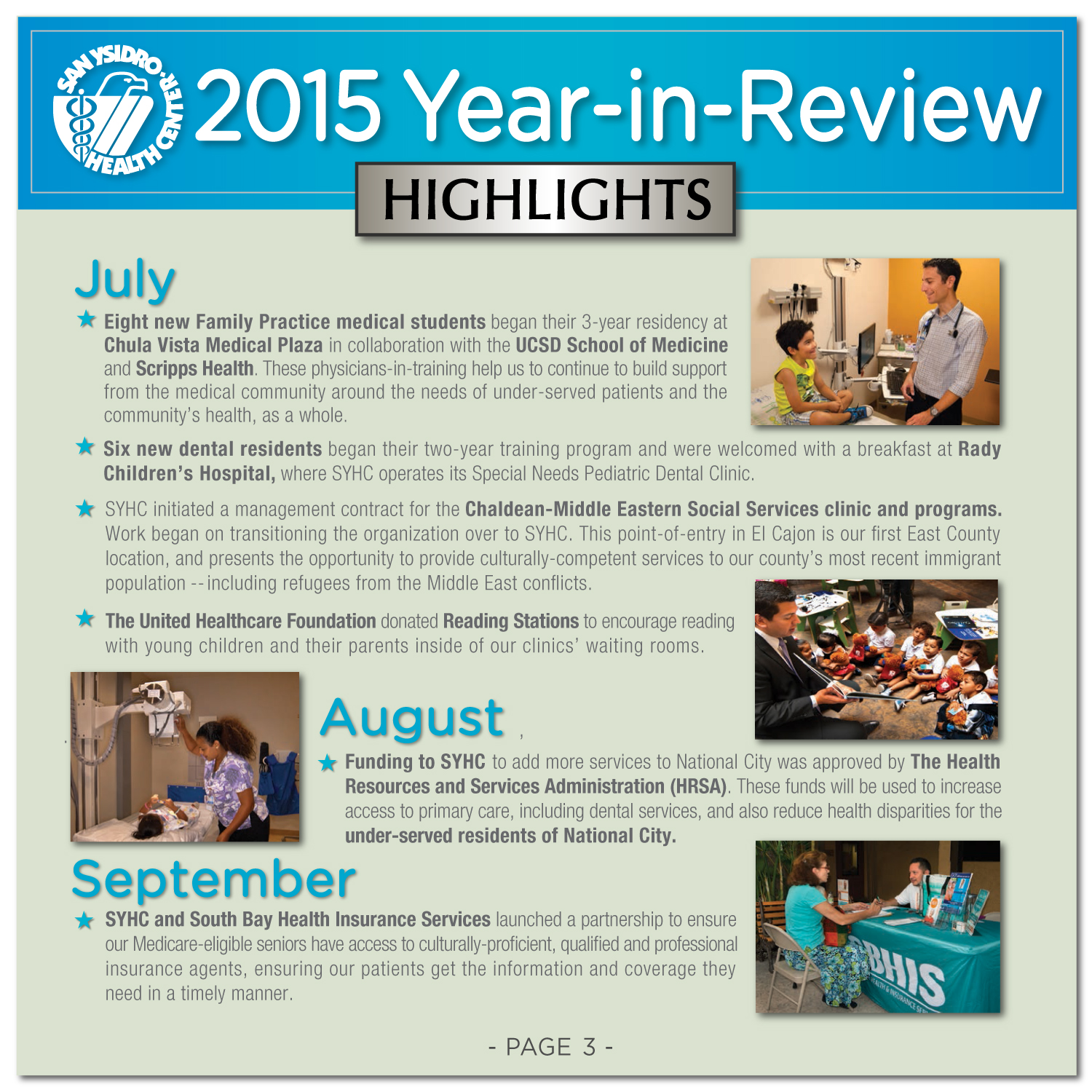 San Ysidro Health Center Introduces Additional Services, Sites & Programs  Throughout 2015 Photos Of Template